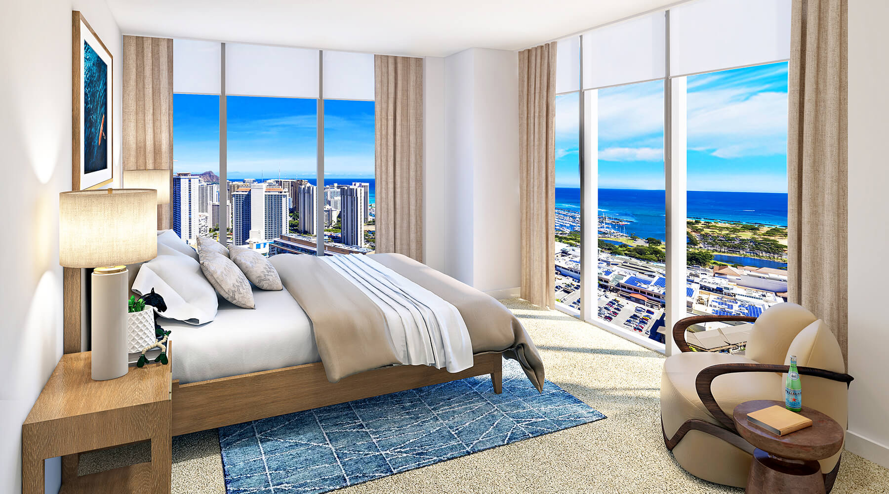 Type A-18 Penthouse Master Bedroom, Level 39