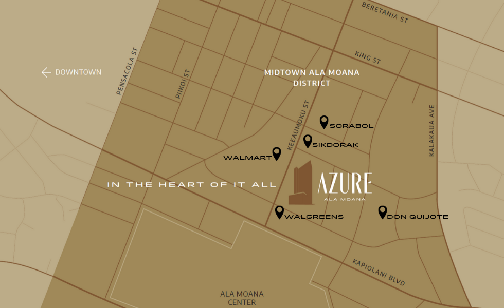 Surrounded By Convenience 24/7 - Azure Ala Moana
